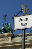Pariser Platz and Brandenburg gate Stock Image