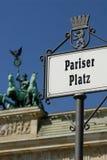 Pariser Platz en de poort van Brandenburg Stock Afbeelding