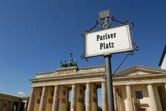 Pariser Platz en poort Stock Fotografie