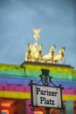 Pariser Platz in front of Brandenburger tor. Royalty Free Stock Photo