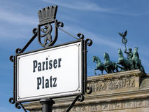 Pariser Platz and Quadriga Royalty Free Stock Photos
