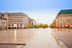 Pariser Platz, Unter den Linden street in Berlin Stock Photos