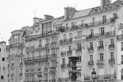 Pariser Wohnanlage Stockfoto