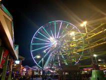 Pariserhjul den öPigeon Forge natten royaltyfria foton
