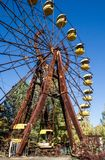 Pariserhjul i den Chornobyl zonen royaltyfri fotografi