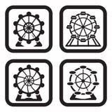 Pariserhjul i fyra variationer Royaltyfri Fotografi