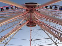 Pariserhjul i marinpir Royaltyfri Foto