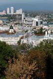Pariserhjul i Podol, Kiev ukraine royaltyfria foton