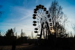 Pariserhjul i Pripyat Arkivbild