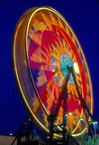 Pariserhjul i rörelse arkivfoto