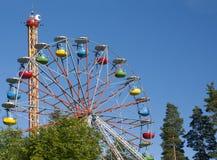 Pariserhjul på himmelbakgrund Arkivfoto