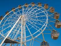 Pariserhjul på invallningen av Obet River i Novosibirsk, Ryssland royaltyfri fotografi