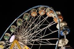Pariserhjul på natten Fotografering för Bildbyråer