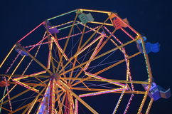 Pariserhjul på natten. Royaltyfri Foto
