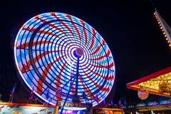 Pariserhjul på natten Royaltyfri Bild