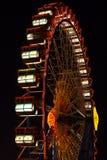 Pariserhjul på Oktoberfesten på natten Arkivbilder