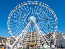 Pariserhjul på port av Marseille Royaltyfria Bilder