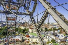 Pariserhjul på Prateren i Wien arkivbild