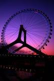 Pariserhjul på skymning Royaltyfria Foton