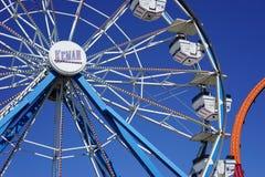 Pariserhjul på Kemah, Texas strandpromenad Royaltyfri Fotografi