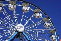 Pariserhjul på Kemah, Texas strandpromenad Arkivbilder