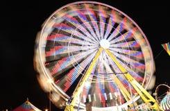 Pariserhjul på natten Arkivbild