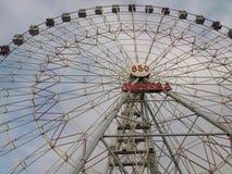 Pariserhjulen i Moskva parkerar Royaltyfri Bild