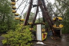 Pariserhjulen i Pripyat parkerar Royaltyfria Foton
