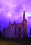 Parish Church. The Parish Church of Saint Laurence, with a gorgeous (and original), purple sky royalty free stock photos