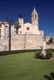 Parish Church. Sitges, Spain stock image
