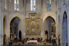 The Parish Church of Arta. The altar of the Parish Church of Arta royalty free stock images