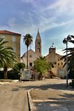 Parish church of the Assumption of the Blessed Virgin Mary in Supetar. (island Brac, Croatia Stock Photo