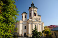Parish church in Banska Stiavnica Stock Image