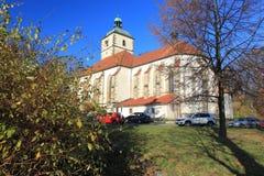 Parish church in Benesov nad Ploucnici Stock Images
