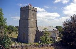 The Parish Church of Berrow. St Mary's Church in the village of Berrow somerst England Stock Photo