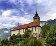 Parish church of Brienz, Bern, Switzerland Royalty Free Stock Photo