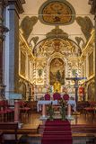 Parish Church Of Canico. The Parish Church of Canico altar on the Portuguese Island of Madeira Stock Photography