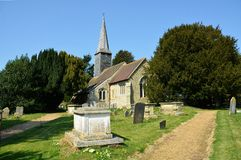 Crowhurst, Surrey, UK. St George`s Church,. The parish church is dedicated to St George, and is architecturally Grade II listed, mostly built from the 12th to stock photos