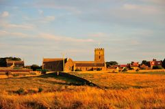 Parish church in the evening sunlight. Royalty Free Stock Photo
