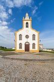 The parish church of Flor da Rosa. Where the knight Alvaro Goncalves Pereira was temporarily buried. Crato, Alto Alentejo, Portugal stock images