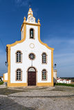 The parish church of Flor da Rosa where the knight Alvaro Goncalves Pereira was temporarily buried. Royalty Free Stock Image