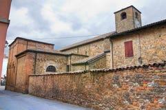 Parish church of Fornovo di Taro. Emilia-Romagna. Italy. Detail of the Parish church of Fornovo di Taro. Emilia-Romagna. Italy royalty free stock photos