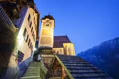 The Parish Church in Hallstatt Royalty Free Stock Images