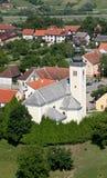 Parish Church of the Holy Cross in Zacretje, Croatia stock photo