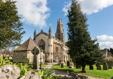 The parish church of The Holy Trinity in Minchinhampton, Gloucestershire royalty free stock images