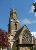 The parish church of The Holy Trinity in Minchinhampton stock photos
