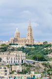 Parish church in Mgarr, Gozo. Parish church in Mgarr, on the eastern coast of the maltese Island of Gozo Royalty Free Stock Images
