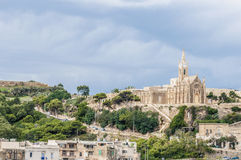 Parish church in Mgarr, Malta Stock Photography