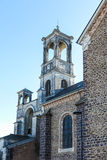 Parish Church in Montfort-sur-Meu in France, the birthplace of S Stock Photo