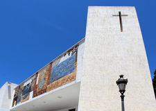 The parish church of Nuestra Señora de las Nieves is located in Royalty Free Stock Images